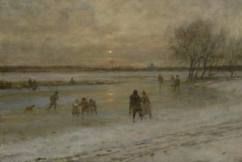 Winter scene in Holland | George Henry Boughton | oil painting
