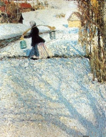 March Snow 1904 | Igor Grabar | oil painting