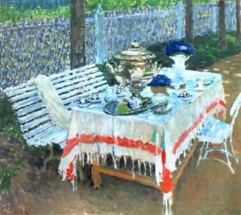 Morning Tea 1917 | Igor Grabar | oil painting