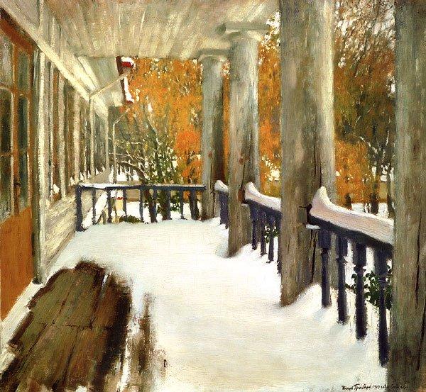September Snow 1903 | Igor Grabar | oil painting