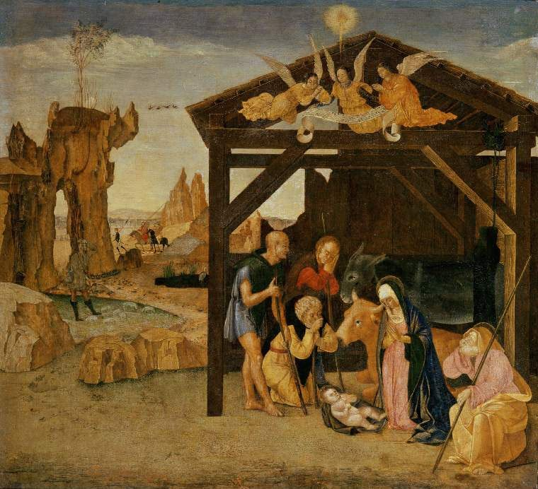 Adoration of the Shepherds | Giovanni Battista de Cavalletto | oil painting