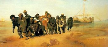 Bargemen on the Volga 1870 73   Ilya Repin   oil painting
