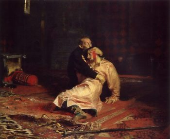 Ivan the Terrible and His Son Ivan on 16 November 1581 1885 | Ilya Repin | oil painting