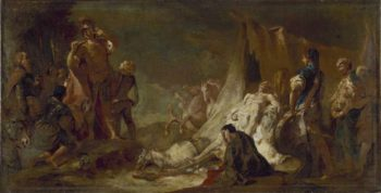 The death of Darius | Giovanni Battista Piazzetta | oil painting