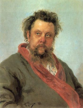 Portrait of Modest Musorgsky 1881 | Ilya Repin | oil painting
