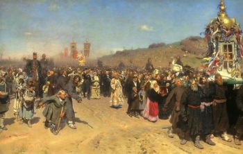 Religious Procession in the Kursk Province 1880 1883 | Ilya Repin | oil painting