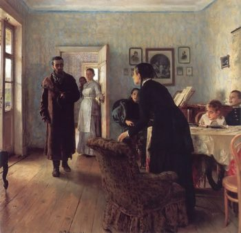 They did not Expect Him 1884 1888 | Ilya Repin | oil painting