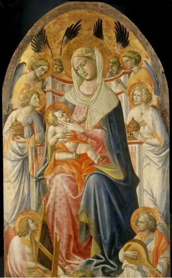 Virgin and Child with angels | Giovanni dal Ponte (Giovanni di Marco) | oil painting
