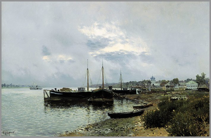 After the Rain Plyos | Isaak Levitan | oil painting
