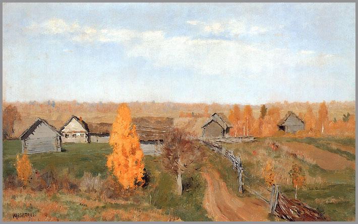 Golden Autumn Slobodka | Isaak Levitan | oil painting