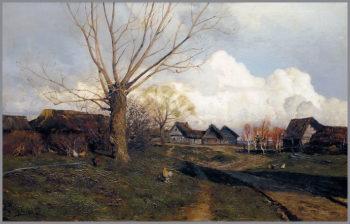 Savvinskaya Sloboda near Zvenigorod | Isaak Levitan | oil painting
