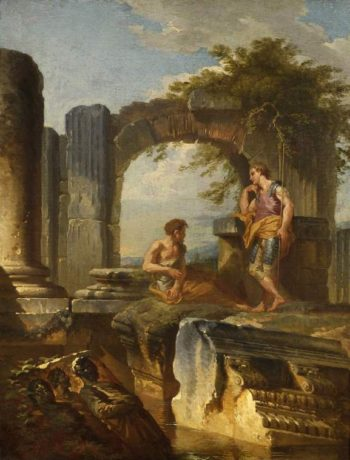 Ruins with figures01 | Giovanni Paolo Pannini | oil painting