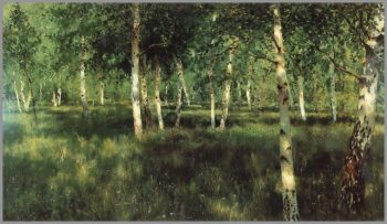 The Birch Grove | Isaak Levitan | oil painting