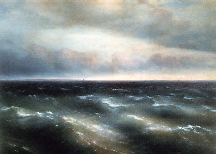 The Black Sea 1881 | Ivan Aivazovsky | oil painting