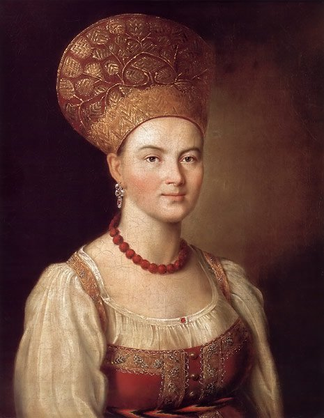 Portrait of a Peasant Woman in a Russian Costume 1784 | Ivan Argunov | oil painting