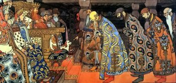 Boyars | Ivan Bilibin | oil painting