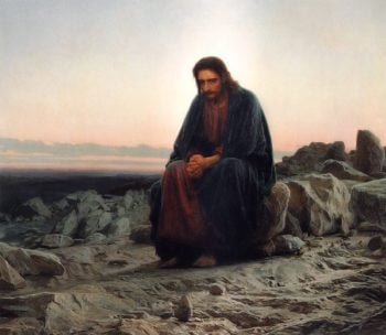 Christ in the Wilderness 1872 | Ivan Kramskoy | oil painting