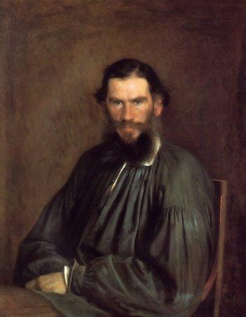 Portrait of Leo Tolstoy 1873 | Ivan Kramskoy | oil painting
