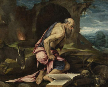 St Jerome in the wilderness | Jacopo Bassano (Jacopo da Ponte) | oil painting
