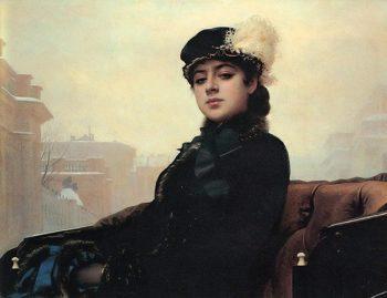Stranger 1883 | Ivan Kramskoy | oil painting
