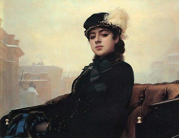 Stranger 1883   Ivan Kramskoy   oil painting