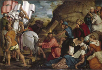 The Journey to Calvary | Jacopo Bassano (Jacopo da Ponte) | oil painting