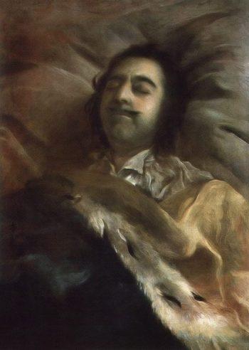 Portrait of Peter I on Deathbed 1725 | Ivan Nikitin | oil painting