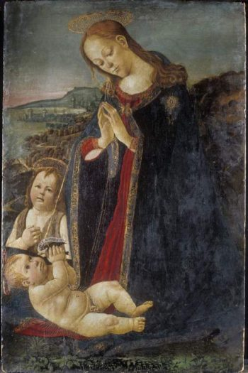 Virgin adoring the Child | Jacopo del llaio | oil painting