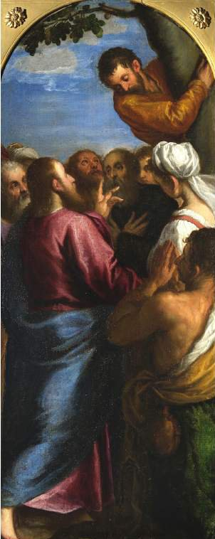 Christ calling Zacchaeus | Jacopo Palma (called Palma il Giovane) | oil painting