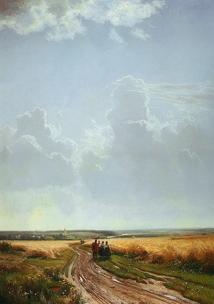 Noon Outskirts of Moscow 1869   Ivan Shishkin   oil painting