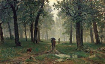 Rain in the Oak Grove 1891 | Ivan Shishkin | oil painting