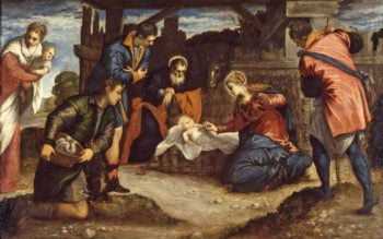 The Adoration of the Shepherds | Jacopo Tintoretto | oil painting