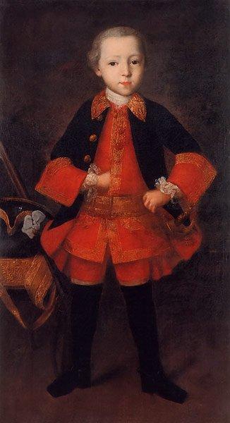 Portrait of Prince Golitsyn as a Child 1760 | Ivan Vishnyakov | oil painting