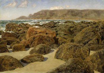 Rocky coast scene (1872) | John Brett | oil painting