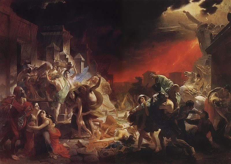 The Last Day of Pompeii 1830 33   Karl Brullov   oil painting
