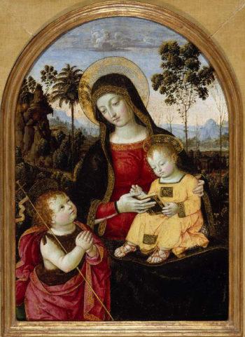 Virgin and Child with St John the Baptist | Pinturicchio (Bernardino di Betto) | oil painting