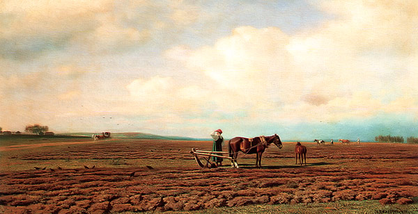 Out in the Field 1872 | Mikhail Klodt | oil painting