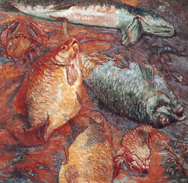 Fish at Sunset 1904 | Mikhail Larionov | oil painting