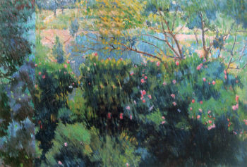 Pink Bush After Rain 1904 | Mikhail Larionov | oil painting