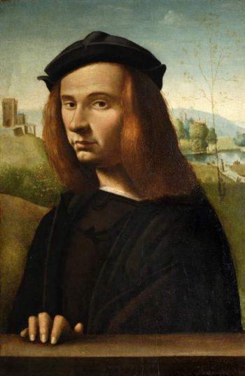 Portrait of a young man | Ridolfo Ghirlandaio (Ridolfo di Domenico Bigordi) | oil painting