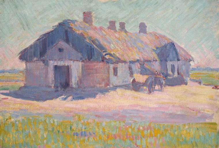 The Polish Tavern   Robert Polhill Bevan   oil painting