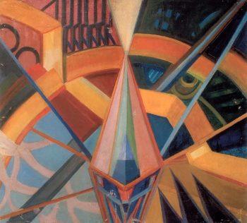 Non Objectivity Crystallization in Space 1915 17 | Mikhail Matyushin | oil painting