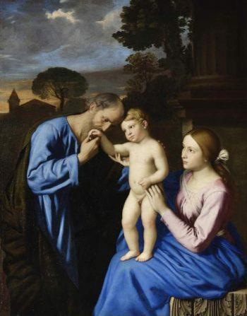 The Holy Family | Sassoferrato (Giovanni Battista Salvi) | oil painting