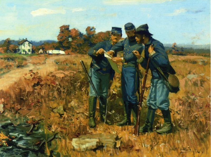 News from the Front | William Gilbert Gaul | oil painting