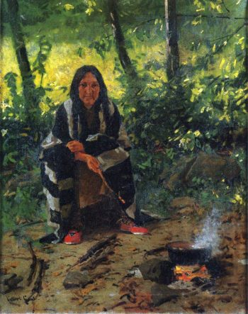 Tending the Fire | William Gilbert Gaul | oil painting