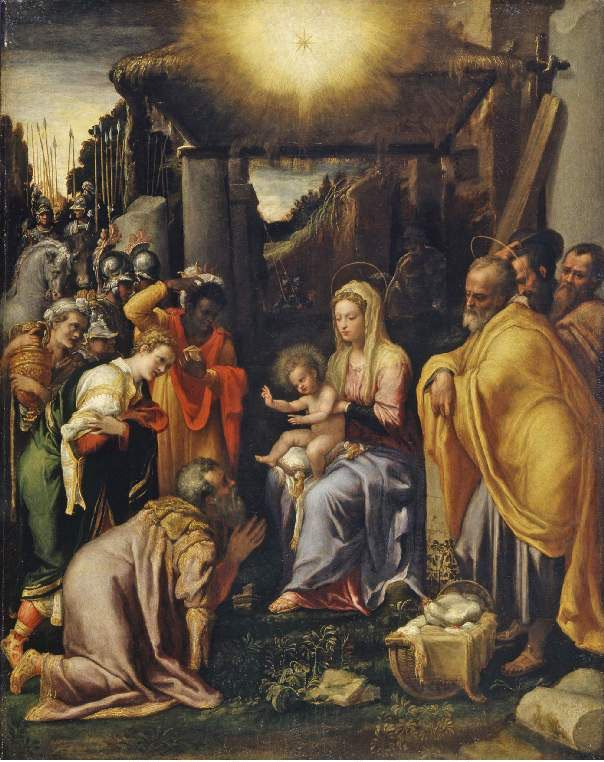 Adoration of the Kings | Taddeo Zuccari | oil painting