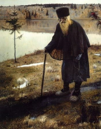 The Hermit 1888 1889 | Mikhail Nesterov | oil painting
