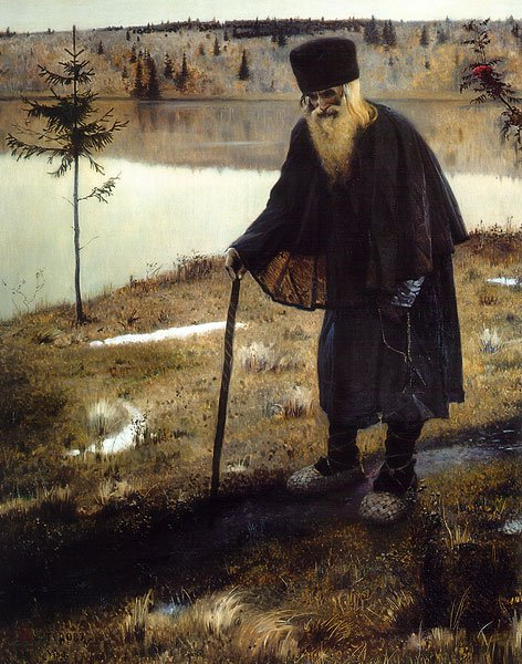 The Hermit 1888 1889 | Mikhail Nesterov | oil painting