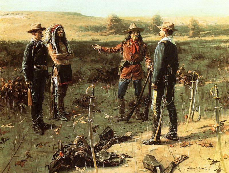 The Indian Prisoner | William Gilbert Gaul | oil painting