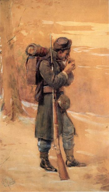 The Infantryman | William Gilbert Gaul | oil painting